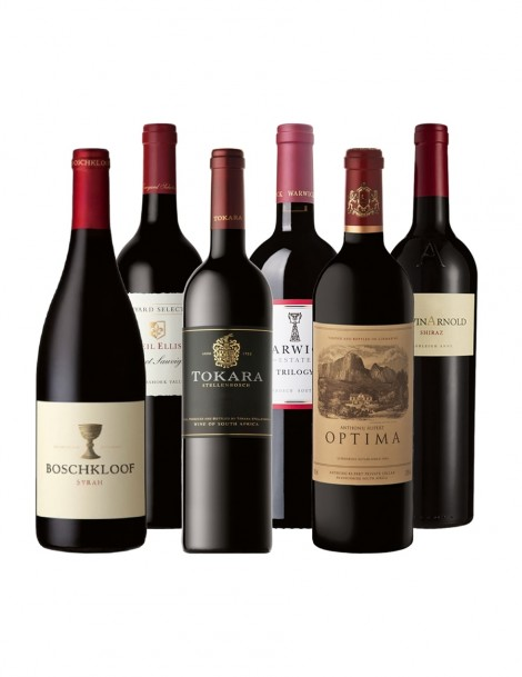 KapWeine - BUSINESS FLEX ROT 2019 - Anthonij Rupert_Optima - Warwick_Trilogy - Boschkloof_Syrah - Neil Ellis_Jonkershoek Cabernet Sauvignon - Waterford_Kevin Arnold Shiraz - Tokara_Red Director's Reserve
