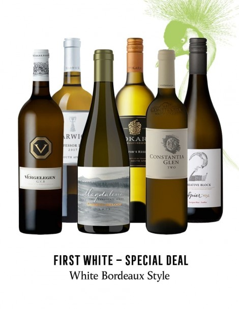 KapWeine - SPECIAL DEAL - 7180 FIRST BORDEAUX STYLE WHITE SET 2020 -