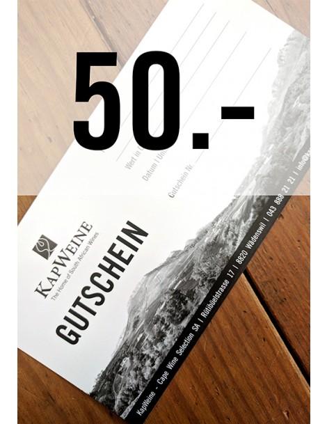 50 CHF Geschenk-Gutschein