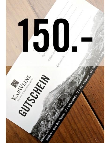 150 CHF Geschenk-Gutschein