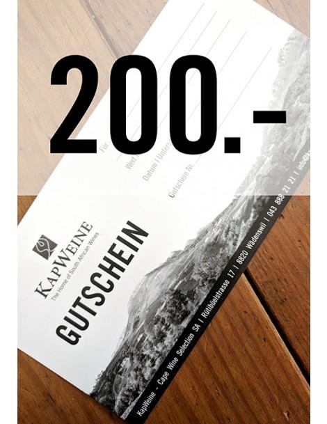200 CHF Geschenk-Gutschein
