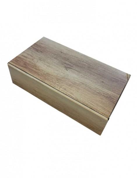 Geschenkverpackung im Holz-Design 2er