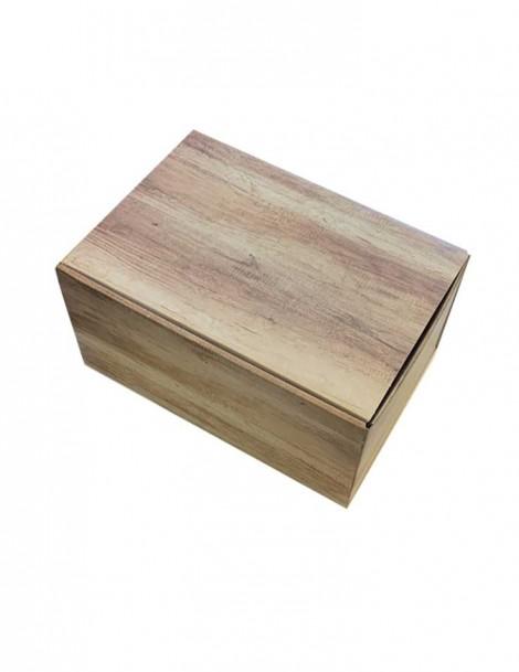 Geschenkverpackung im Holz-Design 6er