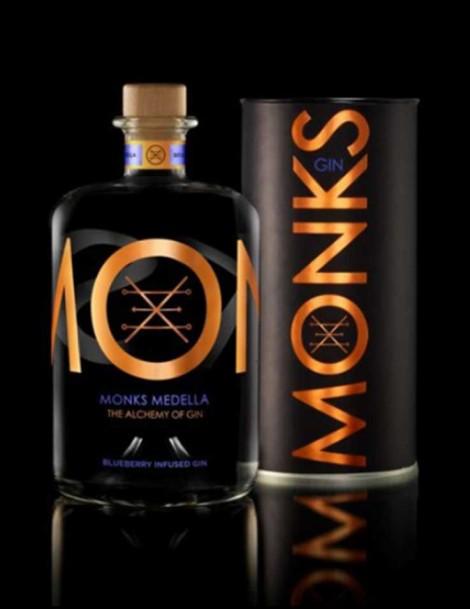 Monks Gin Medella - Heidelbeeren - plus 1 Gratisflasche Fitch & Leedes Blue Tonic Water - plus 1 Gratisflasche Barker & Quin Hibiskus Tonic Water