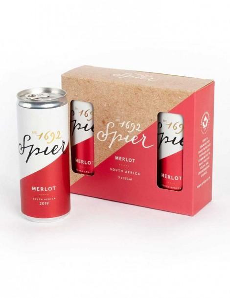 Spier Merlot Canned 250ml - 3er Paket  - 2020
