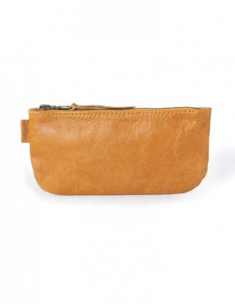 Rowdy Bag Leder Etui - Farbe Amber - Masse 215 X 110 X 15 mm