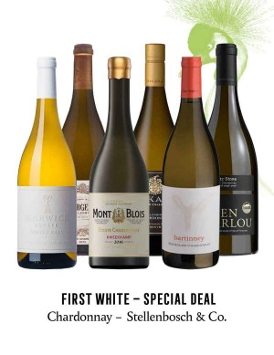 KapWeine - SPECIAL DEAL - 7175 FIRST CHARDONNAY STELLENBOSCH & CO SET 2020