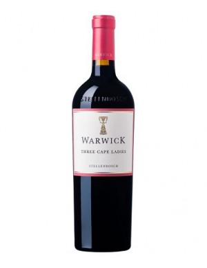 Warwick Three Cape Ladies - Neues Cuvée: 66% Cabernet - 22% Pinotage - 12% Merlot / KILLER DEAL AB 6 FLASCHEN 15.90 - 2017