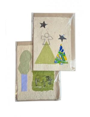 Afrika Geschenkkarte handgemacht
