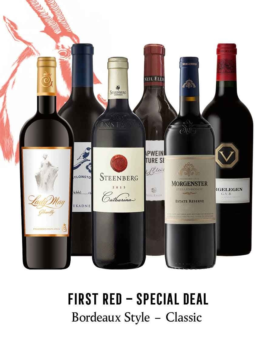 KapWeine - Special Deal - 7166 FIRST - BORDEAUX STYLE CLASSIC RED SET 2020 -