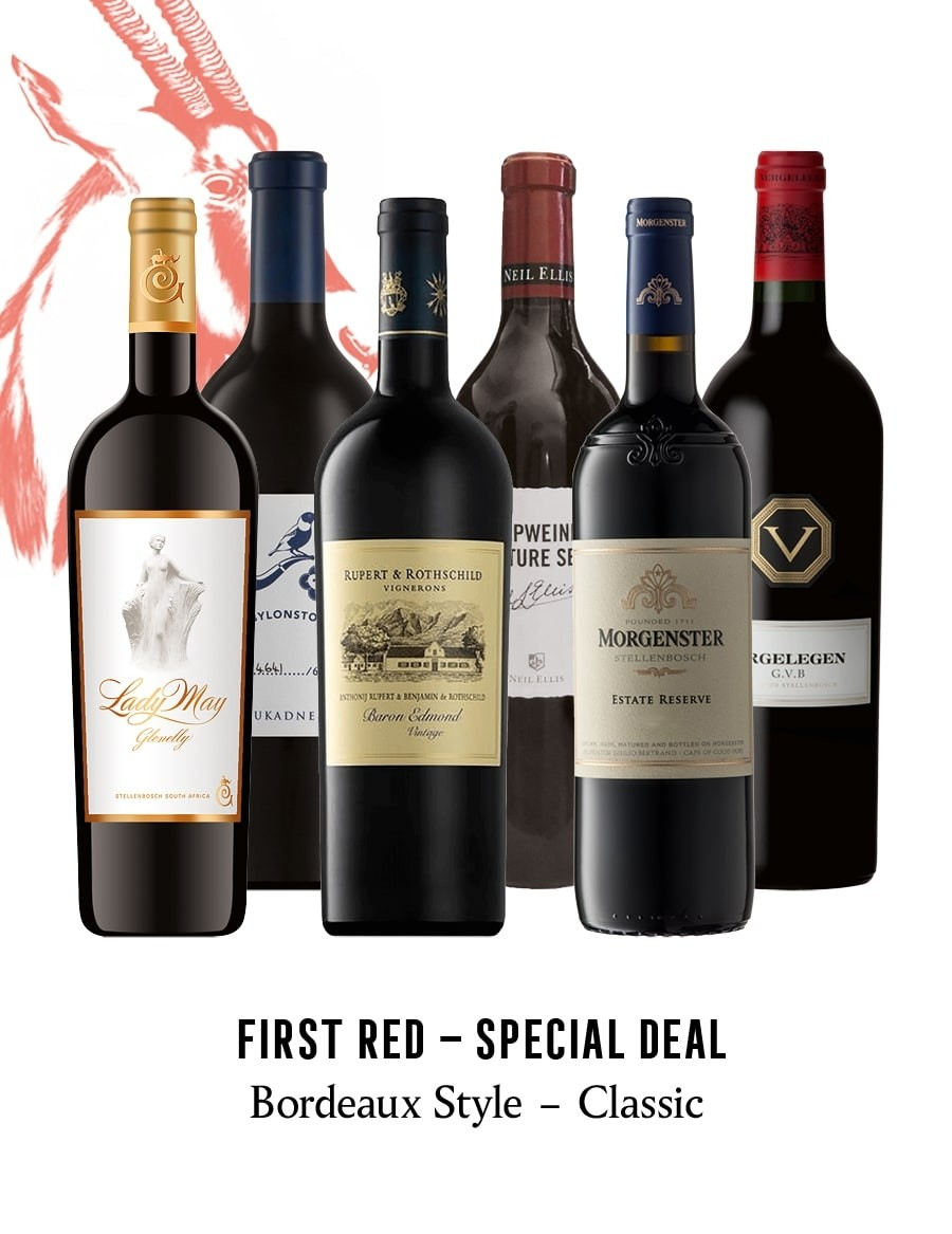 KapWeine - Special Deal - 7166 FIRST - BORDEAUX STYLE CLASSIC RED SET 2021