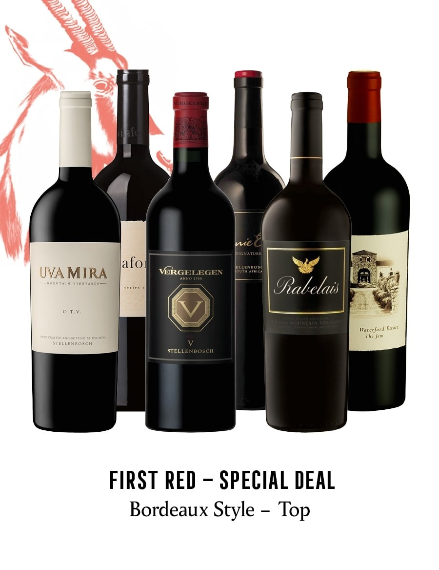 KapWeine - SPECIAL DEAL - 7167 FIRST BORDEAUX STYLE TOP RED SET 2021