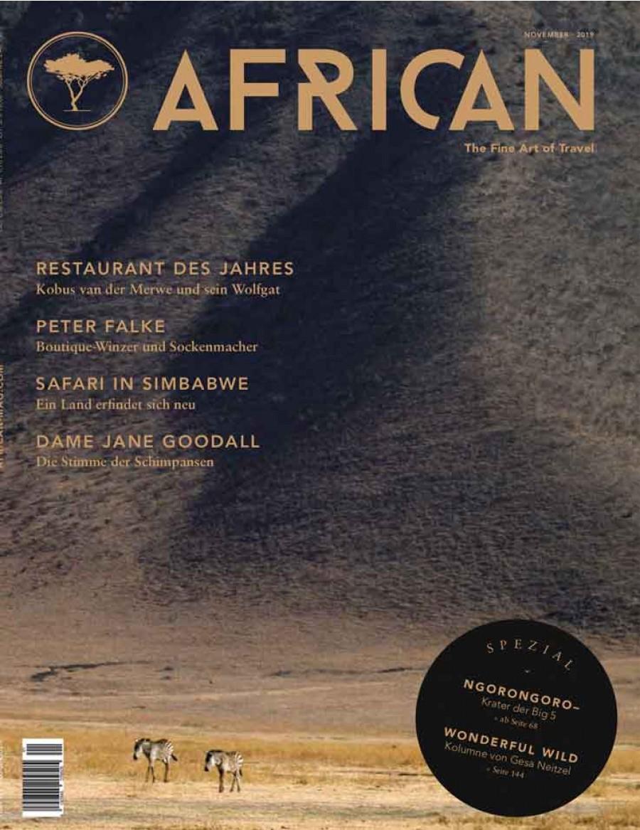AFRICAN MAGAZIN 11/2019 - GRATIS BEI UNS ZUM MITNEHMEN BEI EINEM BESUCH IN UNSEREM SHOWROOM IN WÄDENSWIL