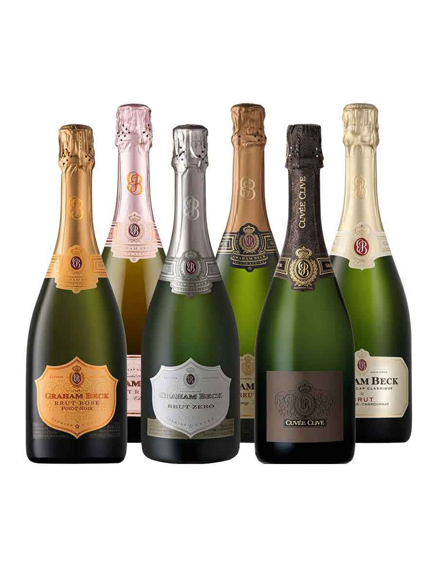 - KapWeine - 7610 Graham Beck 6er TOP Tasting Set Brut