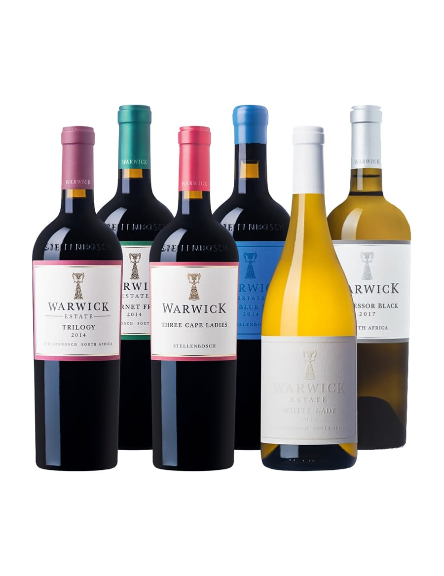 - A KapWeine - 7717 Warwick MIXED TOP Tasting Set - AB 12. AUGUST LIEFERBAR