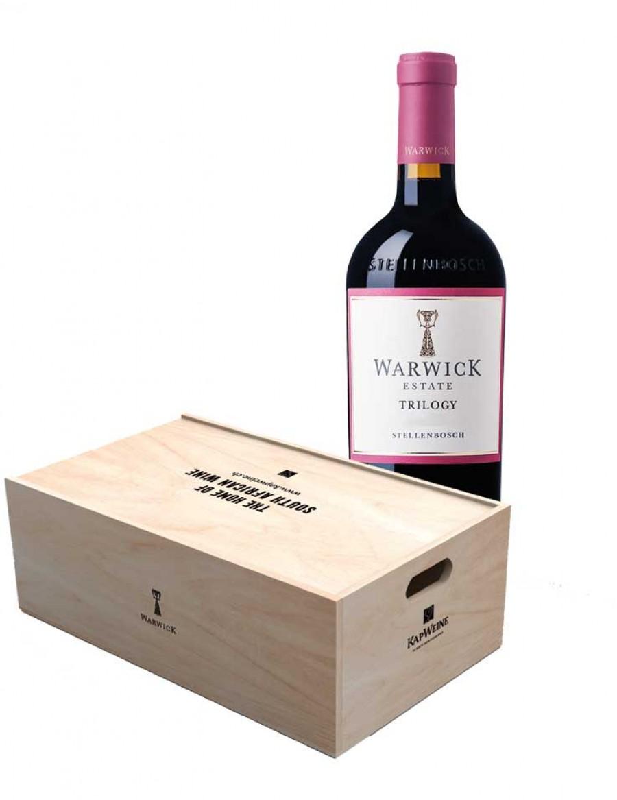 Warwick Trilogy - Preis FÜR 12 Flaschen in der Holzkiste - 2017