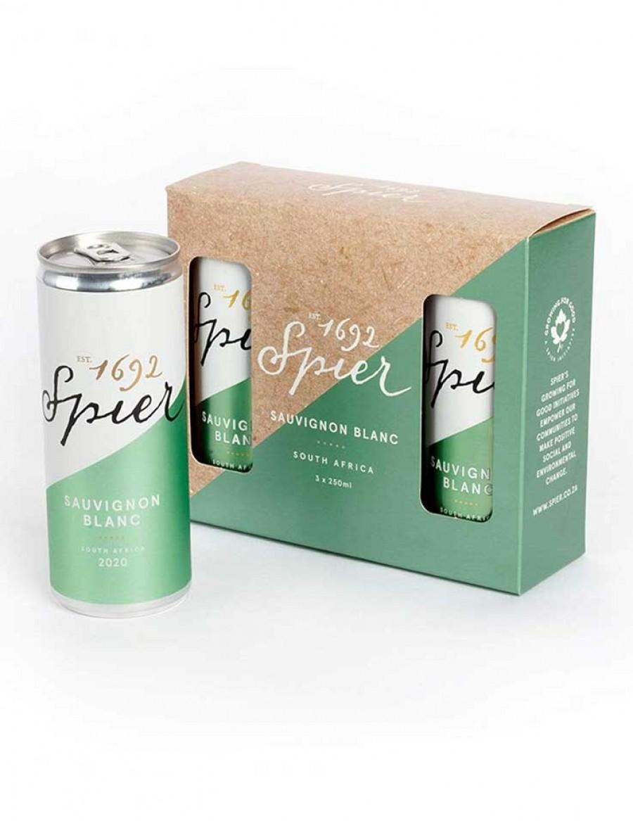 Spier Sauvignon Blanc Canned 250ml - 3er Paket  - 2021