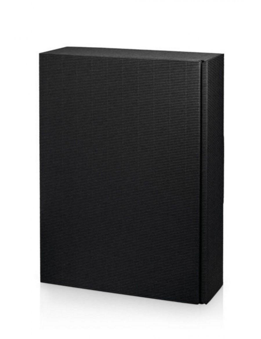 Geschenk Kartonverpackung 3er schwarz