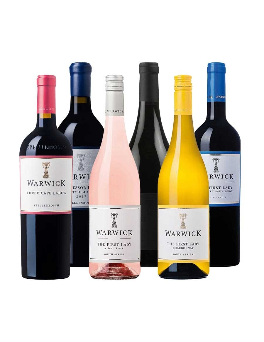 - A KapWeine - 7716 Warwick MIXED VALUE Tasting Set - AB 12. AUGUST LIEFERBAR